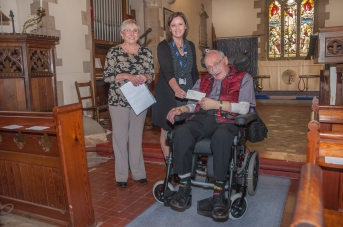 A Photograph of Revd. Stewart Tyler, Jackie Tyler and MND