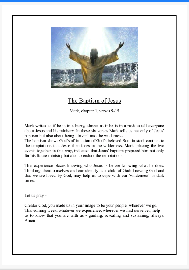 Pews News 1st Sunday of Lent