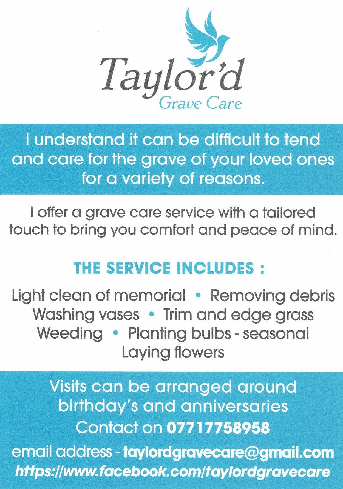 Taylor'd Grave Care