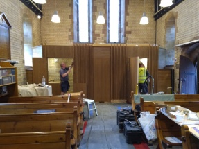 light oak panels and disabled loo