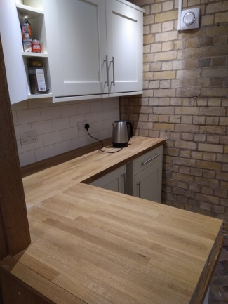 new work surfaces and kitchen units